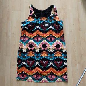 NWT Floral sleeveless dress, full length zipper
